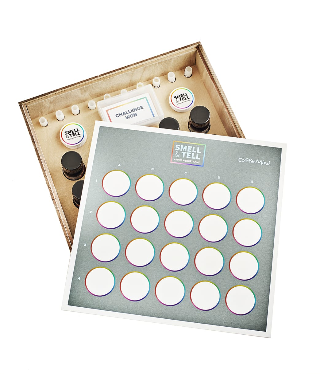 Smell tell aroma memory game pre order coffeemind smell tell aroma memory game solutioingenieria Choice Image